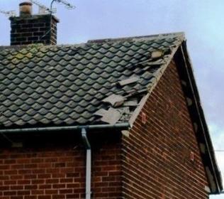 storm damage roof repair